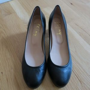 FS/NY French Sole Trance 2 Pump Black 7 1/2 Heels